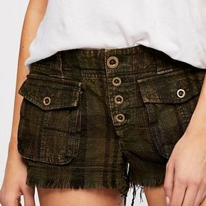 Free People military cargo style shorts